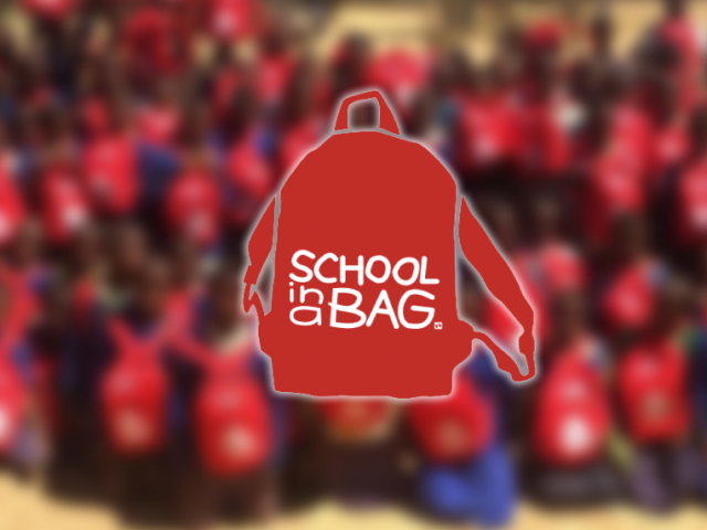 school in a bag charity work